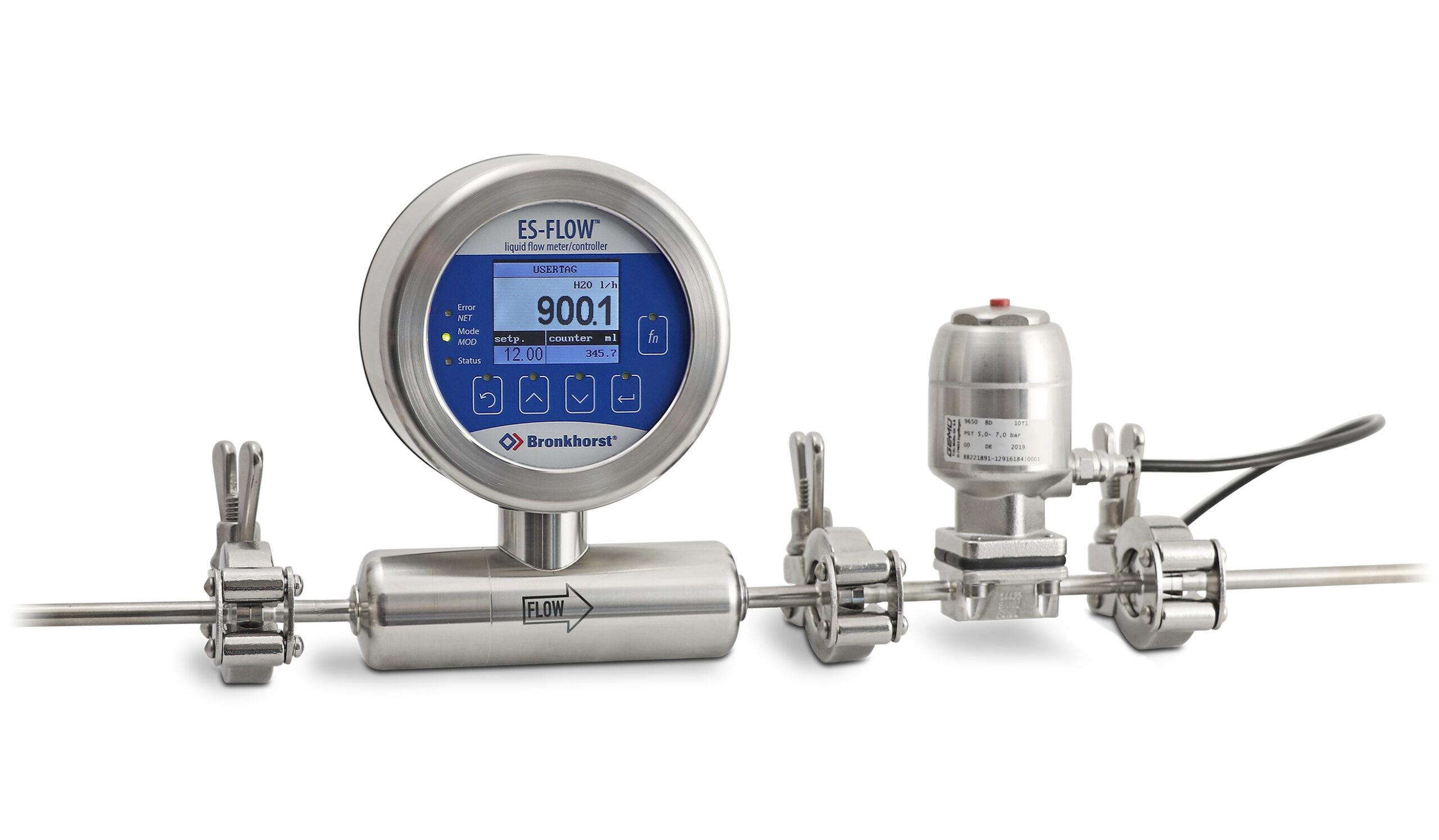 ES-Flow s regulačným ventilom pre potravinárske aplikácie