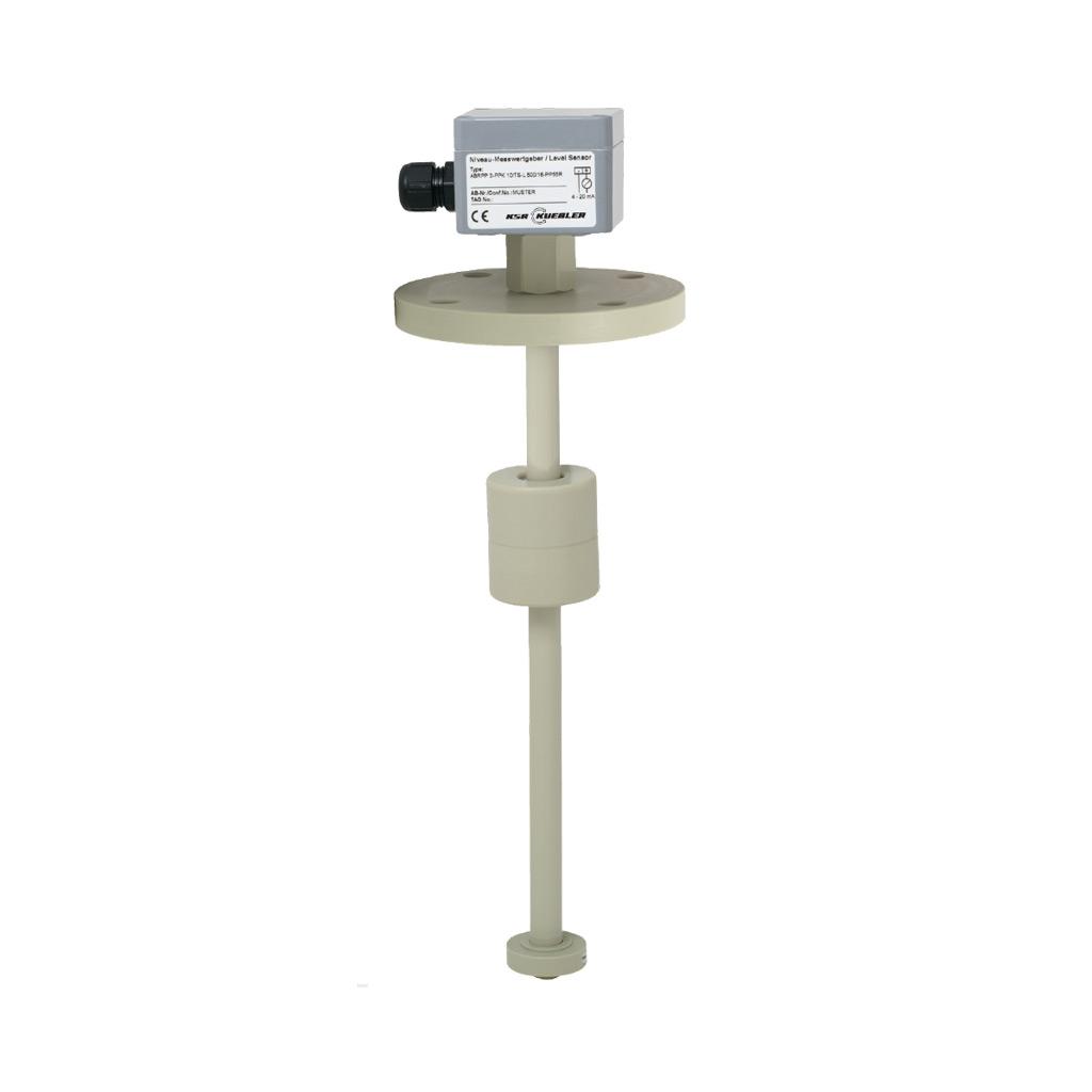 Plovákový magnetický snímač hladiny s odporovým řetězcem FLR - plastové provedení