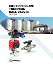 TBV Trunnion Ball Valves Catalog - Kulový kohout TBV