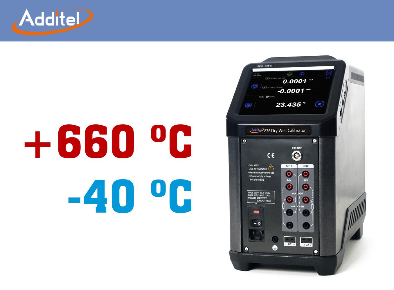 Prevádzkové suché teplotné piecky Additel 875
