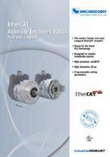 Absolutní enkodéry WDGA s protokolem EtherCAT - Absolutní snímače WDGA (PROFINET-IO, EtherCAT a Universal-IE)