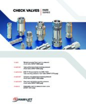 H-400 Check Valves Catalog - Klapkový zpětný ventil H-400, H-400HP, H-400OP, H-400OPA, H-400A