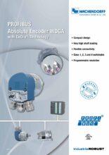 Absolutní enkodéry WDGA s protokolem PROFIBUS - Absolutní snímače WDGA (SSI, RS485, SAE J1939 a PROFIBUS)
