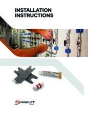 Complete Installation Instructions Ham-Let - Systém LET-LOK odvýrobce Ham-Let