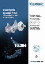 Inkrementální enkodéry WGDP - Inkrementální snímače WDG, WDGI a WDGP s hřídelí