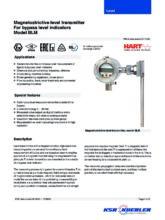 Katalogový list - Kontinuální magnetostrikční snímač BLM - Stavoznak s horní montáží UTN