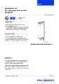 Katalogový list - Osvětlovací jednotka LGI - Přímý skleněný stavoznak