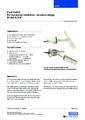 Katalogový list - Horizontální hladinový spínač HLS-M - Horizontální hladinový spínač – verze mini
