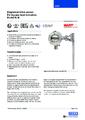 Katalogový list - Kontinuální magnetostrikční snímač BLM - Stavoznak s horní montáží