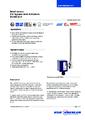 Katalogový list - Kontinuální odporový snímač BLR - Stavoznak s horní montáží