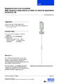 Katalogový list pro magnetostrikční snímač hladiny FLM-CM - Magnetostrikční snímač hladiny – kompaktní verze